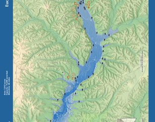 View Lake Eucha Map