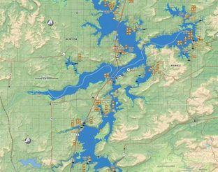 View Lake Eufaula Map