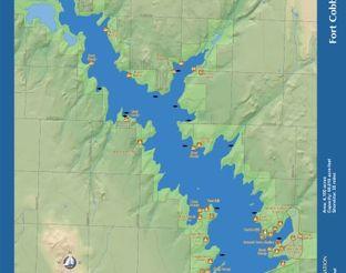 View Fort Cobb Reservoir Map