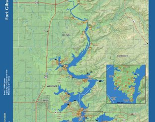 View Fort Gibson Lake Map