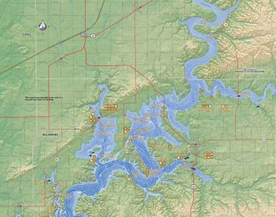 View Grand Lake O' The Cherokees Map
