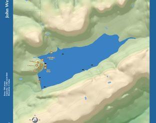 View Lake John Wells Map