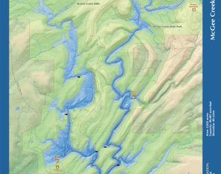 View McGee Creek Reservoir Map