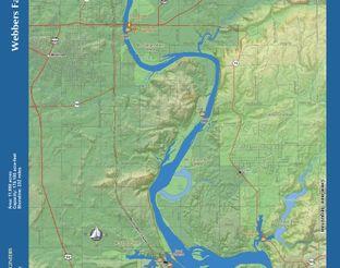 View Webbers Falls Reservoir Map