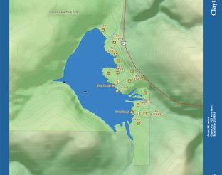 View Clayton Lake Map