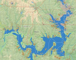 View Lake Texoma Map