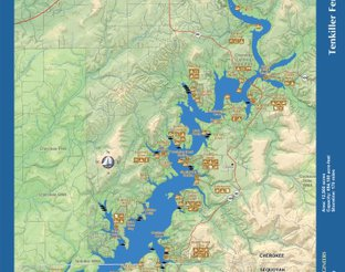 View Lake Tenkiller Map