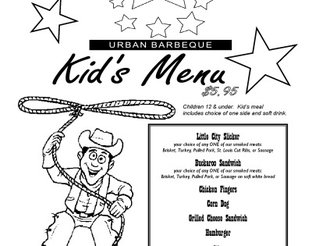 View Iron Starr Urban Bar-B-Q Children's Menu