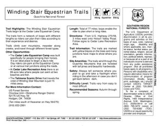 View Winding Stair Trail Map