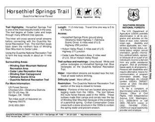 View Horsethief Springs Trail Map