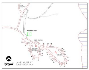 View Map of Lake Murray Dukes Forest Campground