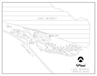 View Map of Lake Murray Marietta Landing Campground