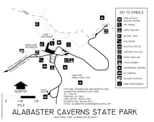 View Alabaster Caverns State Park Map