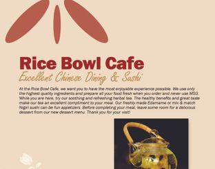 View Rice Bowl Cafe Menu