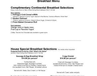 View Terrapin Peak Breakfast Menu