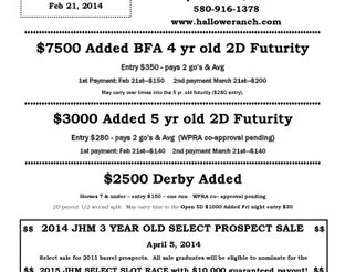 View Jackson Hall Memorial Barrel Event Futurity Flyer