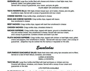 View Ted's Cafe Escondido Menu