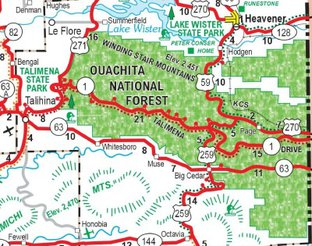 View Talimena National Scenic Byway Map