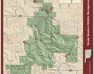 View Sandy Sanders Wildlife Management Area Map