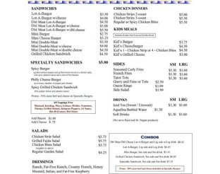View Lot-A-Burger Menu