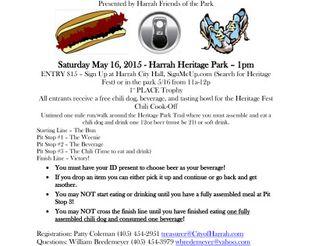 View Harrah Heritage Fest Chili Dog Fun Run Sign Up Form