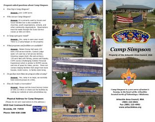 View Camp Simpson Brochure