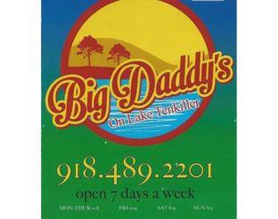 View Big Daddy's on Lake Tenkiller Menu