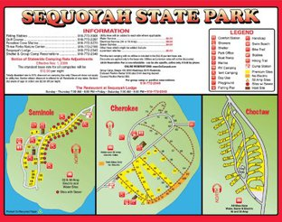 View Sequoyah State Park RV Camping Area Map