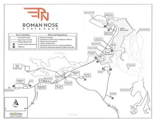 Roman Nose State Park Map with Trails