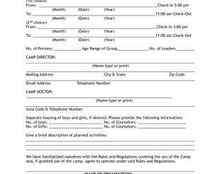 View Lake Murray Group Camp Application