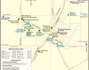 Map of Claremore