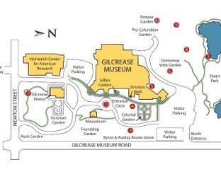 Gilcrease Museum Garden Map
