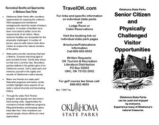 Senior Citizen & Physically Challenged Visitor Opportunities