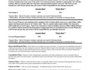 RCSP Yurt & Covered Wagon Rates