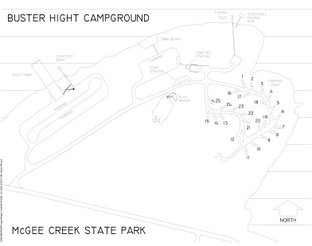 Buster Hight Campground Map