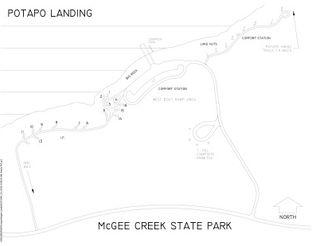 Potapo Landing Campground Map