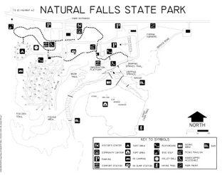 View Natural Falls State Park Map