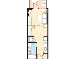 WorldMark Grand Lake - Studio Resort Suite Floor Plan