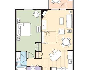 WorldMark Grand Lake - One-Bedroom Resort Suite Floor Plan