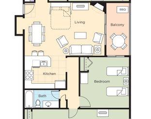 WorldMark Grand Lake - Three-Bedroom Resort Suite Floor Plan