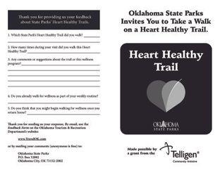Bernice Area - Heart Healthy Trail Booklet
