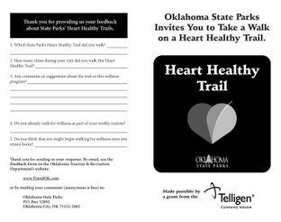 Great Salt Plains State Park - Heart Healthy Trail Booklet
