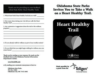 Lake Texoma State Park - Heart Healthy Trails Booklet