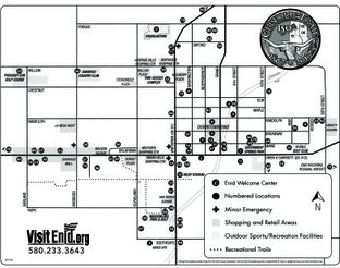 Enid City Map