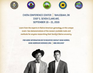 2019 Five Tribes Ancestry Conference flyer.