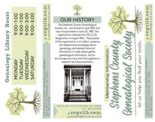 Genealogical Society Membership Brochure