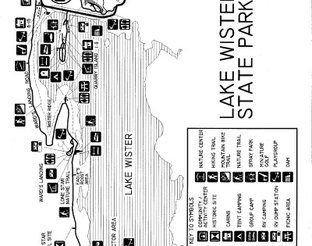 Map of Lake Wister State Park