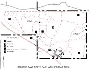 View Robbers Cave ATV Trail Map