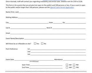View Shelter Reservation Form
