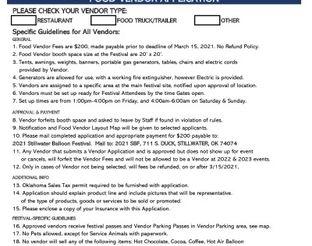 2021 Food Vendor Application Form